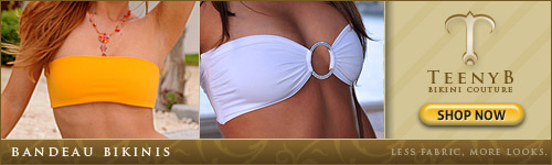 Shop For Bandeau Bikini Tops at TeenyB.com
